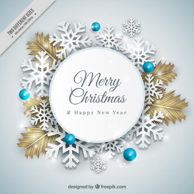 High-Quality Free Christmas Vector Graphics 2017 - Snowflakes