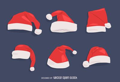 High-Quality Free Christmas Vector Graphics 2017 - Santa Hat