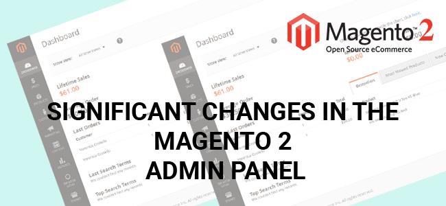Magento 2.0 - Admin Panel