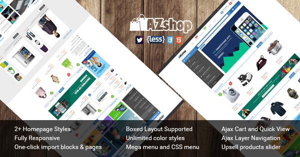 SM Azshop - Responsive Magento theme