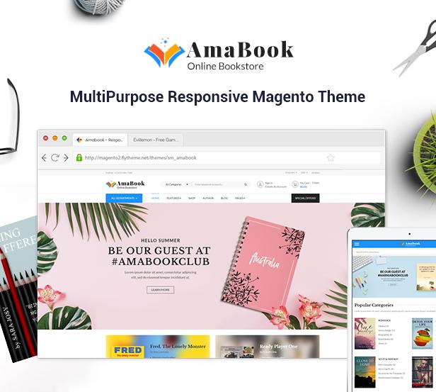 AmaBook - MultiPurpose Responsive Magento Theme - 1