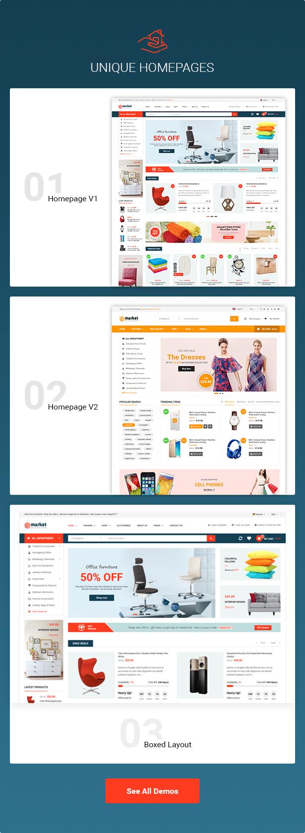 E-market - Stunning and Responsive Magento 2.1 Theme