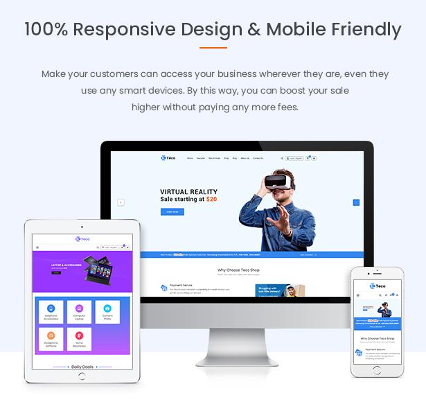 Teco - Responsive Hitech/Digital Magento 2 Store Theme - 5