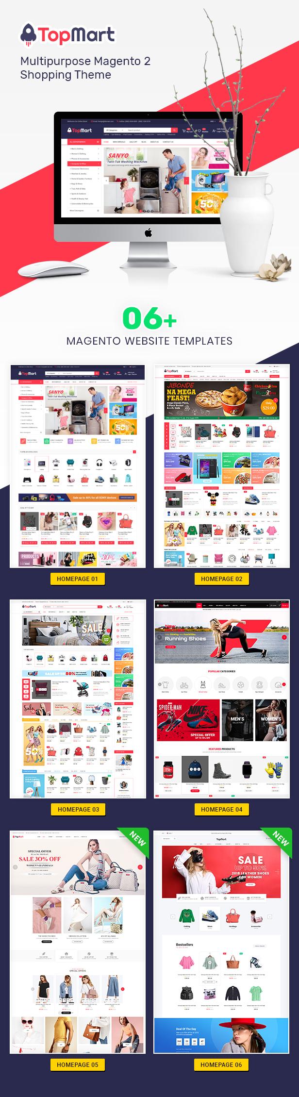 TopMart - MultiPurpose Responsive Magento 2 Shopping Theme - 2