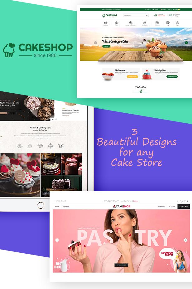 cakeshop - Opencart Theme