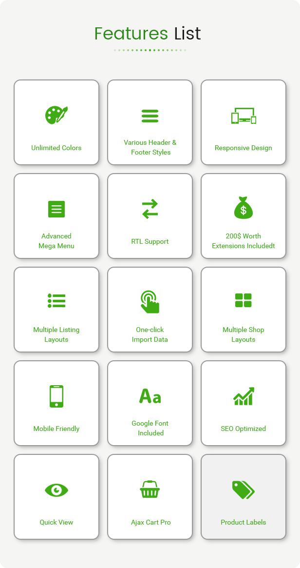 ecogreen - Opencart 3 Theme