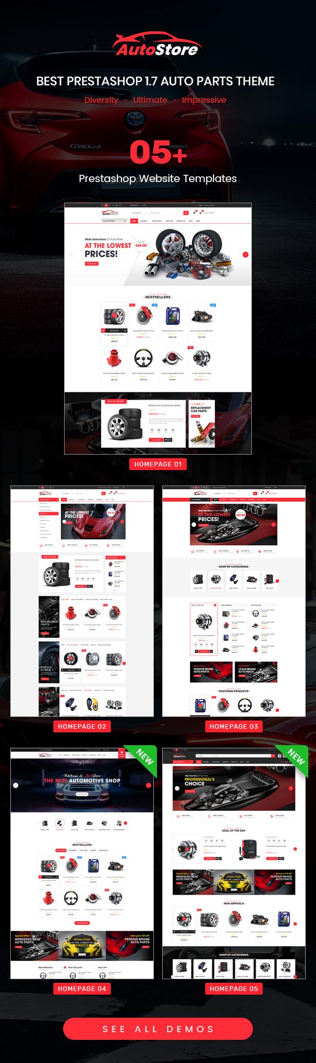 AutoStore - Responsive PrestaShop 1.7 Autopart Theme - 1
