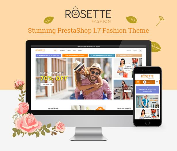 Rosette - Beauty Responsive PrestaShop 1.7 Fashion Theme - 1