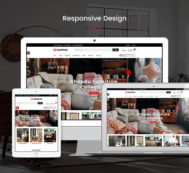 Shop4U - Store PrestaShop 1.7 eCommerce Theme - 4