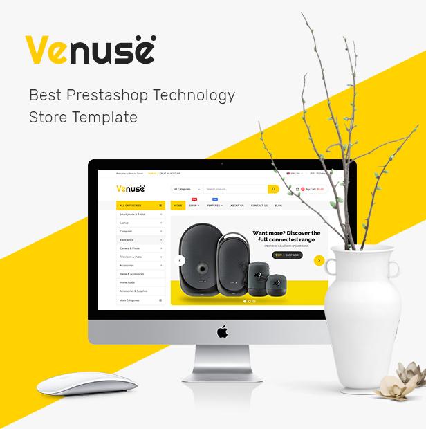 Venuse - Premium Responsive PrestaShop 1.7 Digital Theme - 1