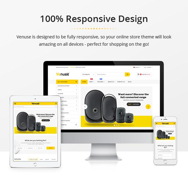 Venuse - Premium Responsive PrestaShop 1.7 Digital Theme - 2