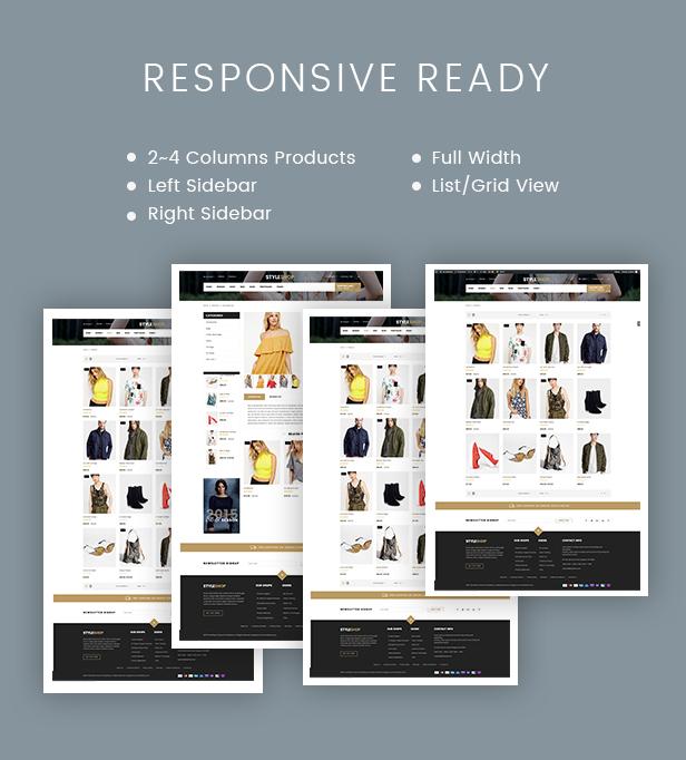SW StyleShop - WooCommerce Theme