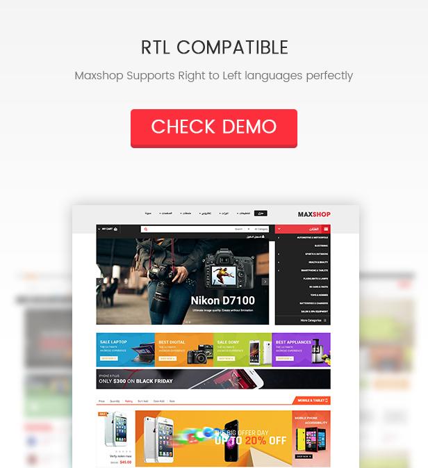 SW Maxshop - RTL Support